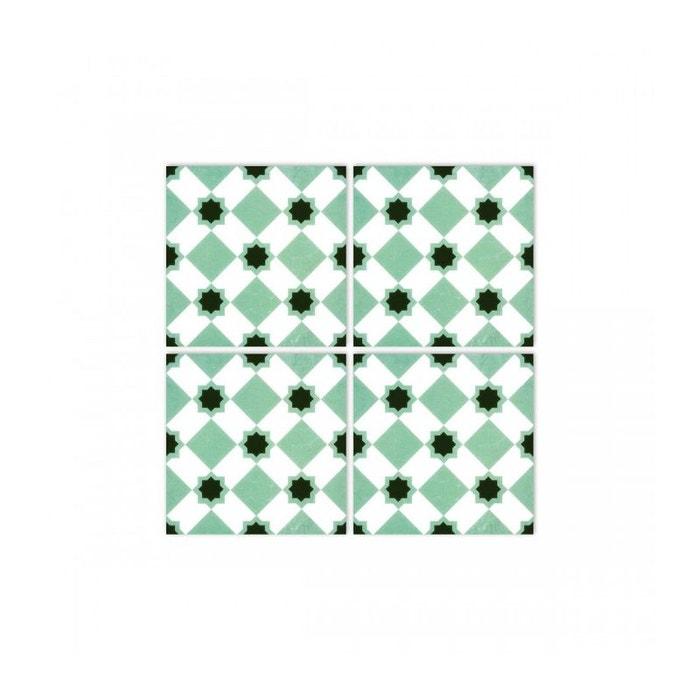 stickers pour carrelage de salle de bain ou cuisine vert la folie 02 set de 4 vert wadiga la. Black Bedroom Furniture Sets. Home Design Ideas