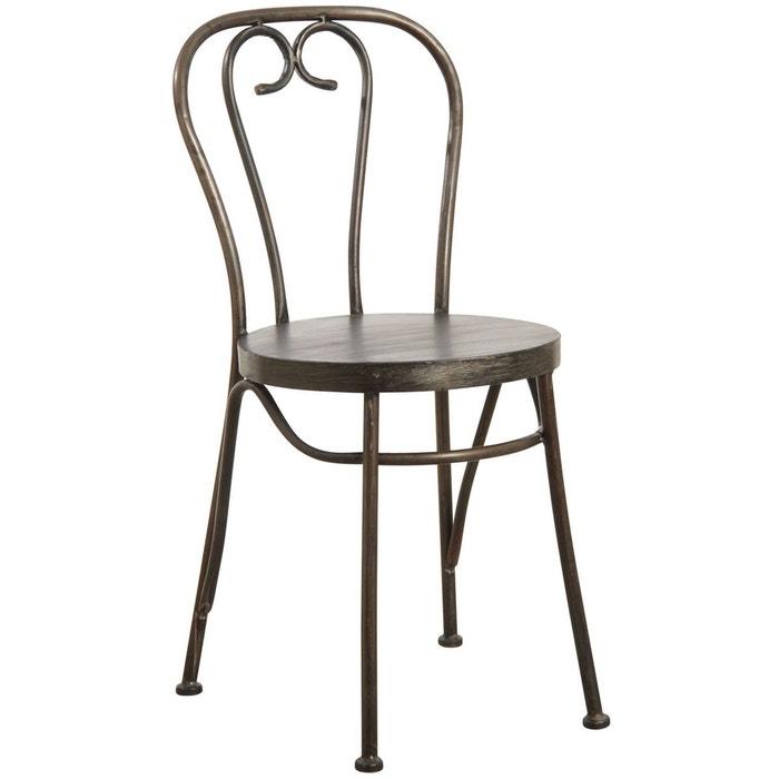 chaise en m tal noir vieilli noir aubry gaspard la redoute. Black Bedroom Furniture Sets. Home Design Ideas