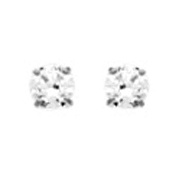 Grande Remise En Ligne Pour Le Prix Pas Cher Boucles d'oreilles puce 2.5 mm oxyde de zirconium or blanc 750/000 (18 carats) couleur unique So Chic Bijoux | La Redoute 2018 En Ligne Bas Prix Rabais YRbxg