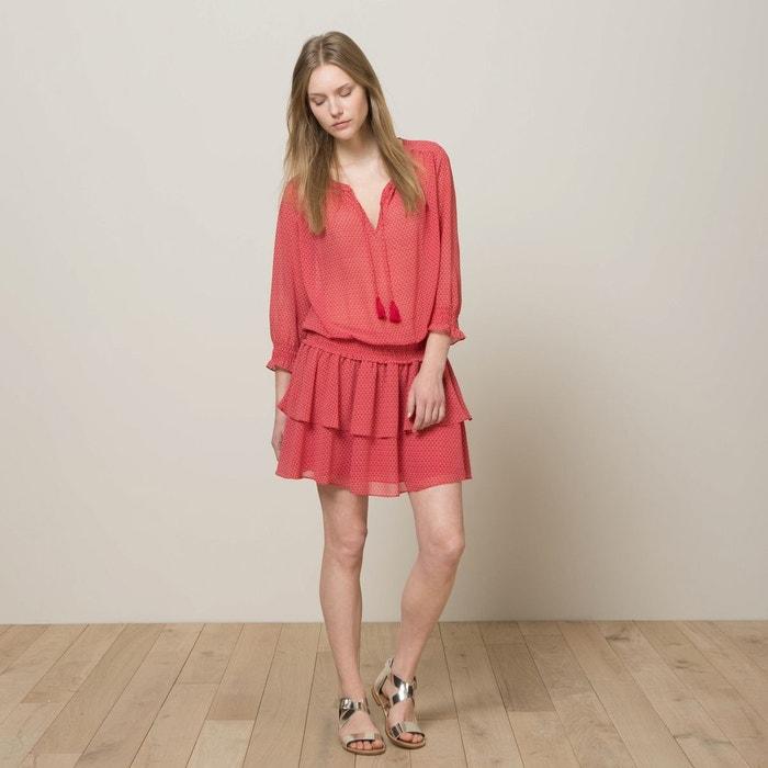 robe volants rouge maison scotch la redoute. Black Bedroom Furniture Sets. Home Design Ideas