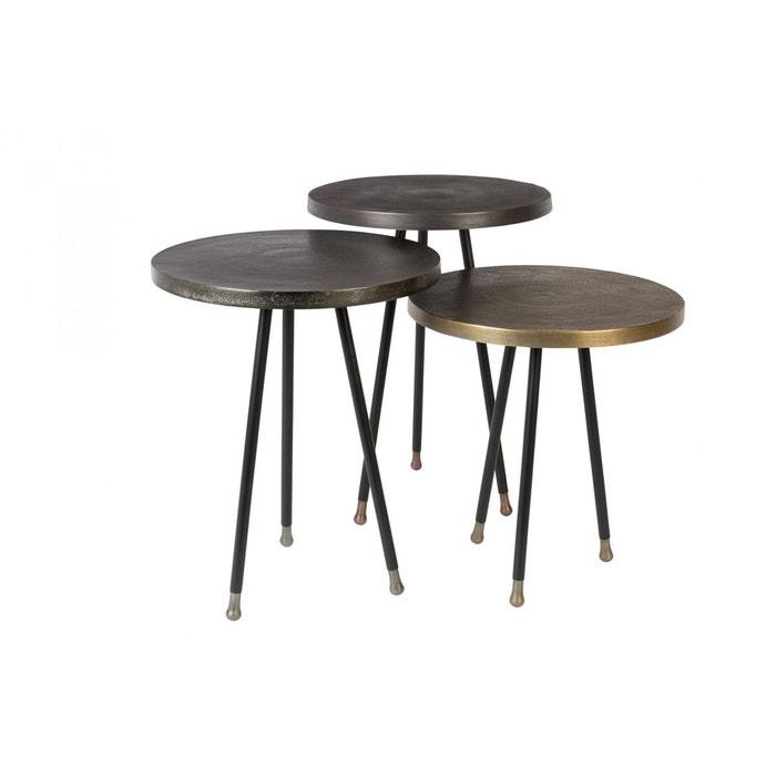 set de trois tables d 39 appoint vintage alim par dutch bone. Black Bedroom Furniture Sets. Home Design Ideas