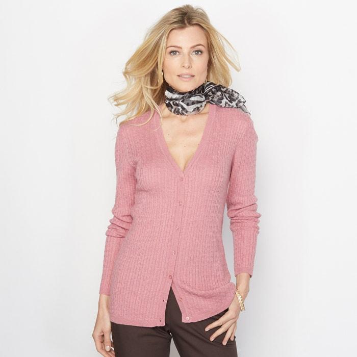 afbeelding Vest met V-hals, 10% wol ANNE WEYBURN