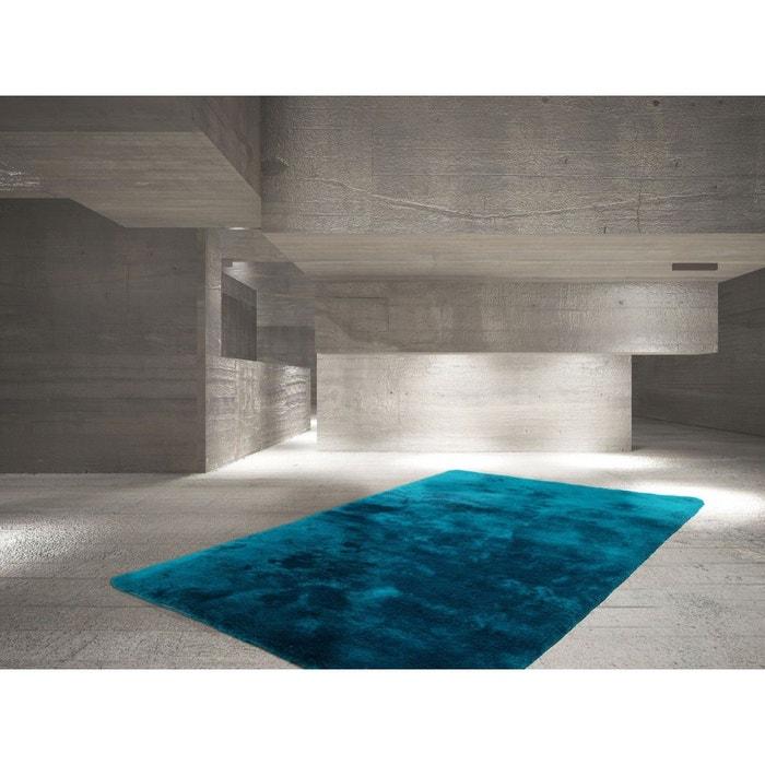 tapis bleu p trole en polyester moelleux calypso bleu. Black Bedroom Furniture Sets. Home Design Ideas