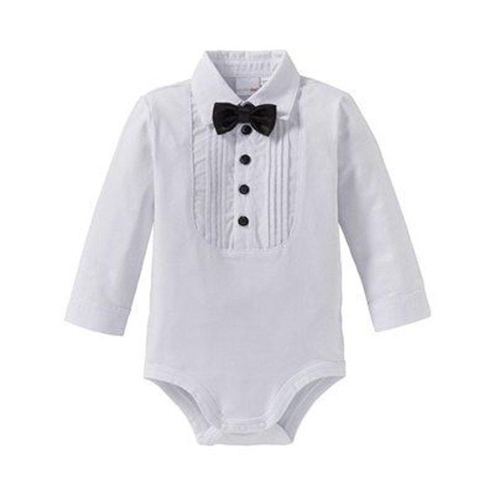 Bornino body à manches longues avec noeud papillon bébé blanc Bornino  891f41dd894