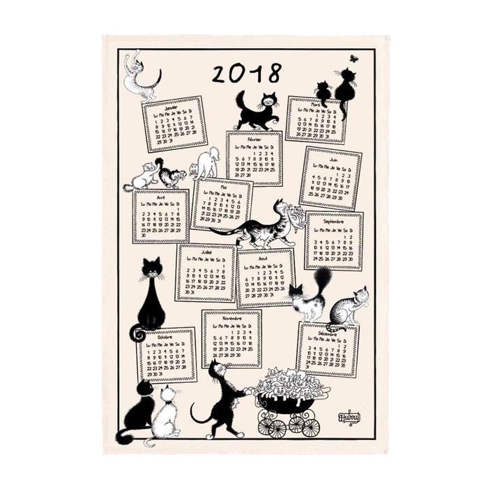 Torchon dubout calendrier 2018 ecru torchons et bouchons la redoute - Torchon calendrier ...