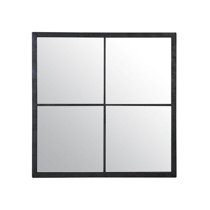 9d9ec685715514 Miroir fenêtre Marcel noir 60x60