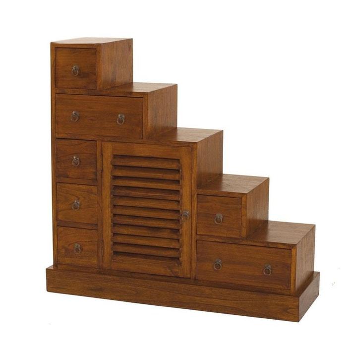 meuble escalier double face 105x37x102cm lola couleur
