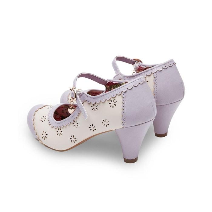 Chaussures mary jane avec talon conique et breloque joe browns femme violet Joe Browns