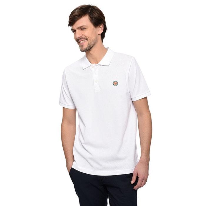 a1d6afb2ee6f7 Polo piqué logo tricolore blanc Roland Garros
