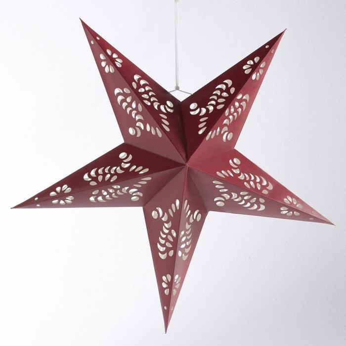 Grande toile lumineuse en papier rouge la redoute - Etoile lumineuse exterieure noel ...