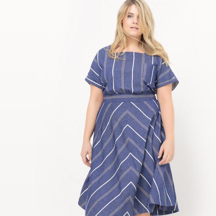 Image Mid-Calf Short-Sleeved Dress CASTALUNA
