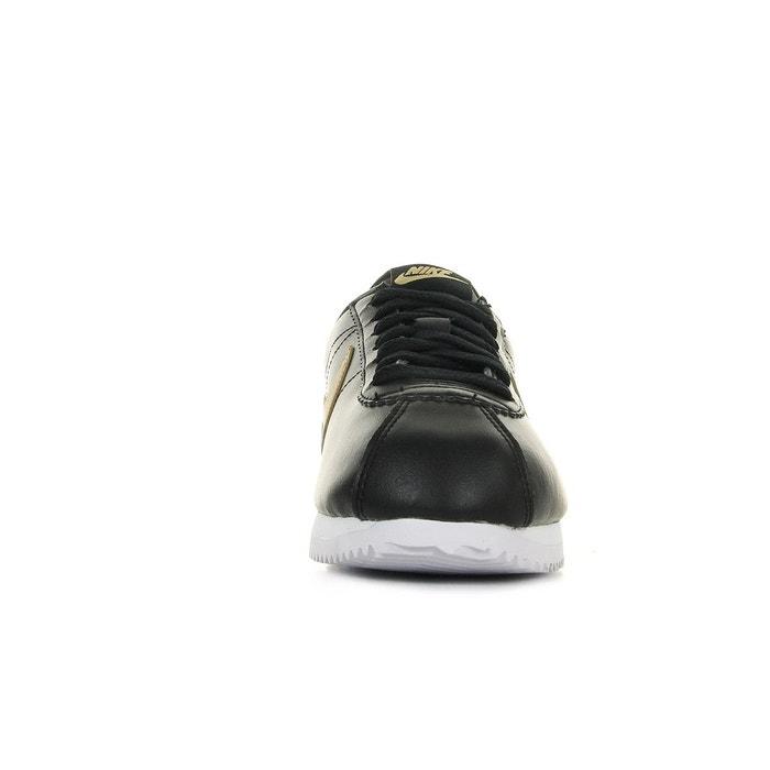 Baskets femme classic cortez leather noir, doré, blanc Nike