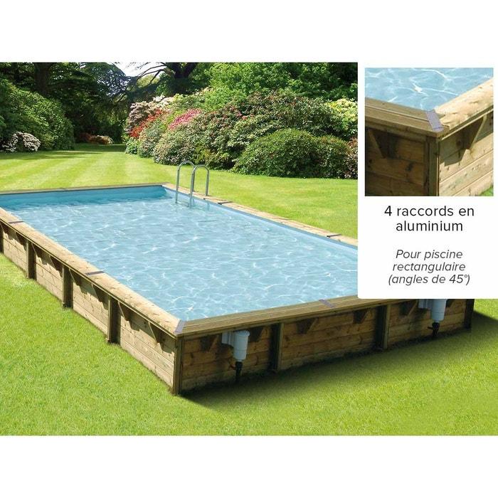 Kit finition pour margelles en angle pour piscine bois for Piscine bois la redoute