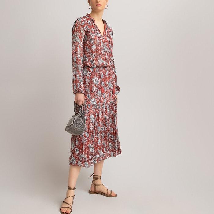 Langes Kleid Lange Armel Bedruckt Geblumt La Redoute Collections La Redoute