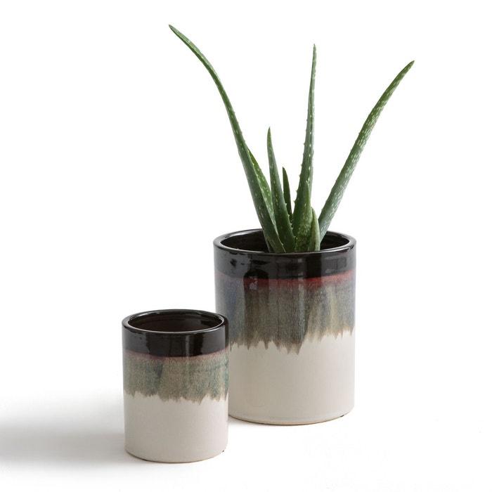 cache pots c ramique tie dye tapiwa lot de 2 la redoute interieurs la redoute. Black Bedroom Furniture Sets. Home Design Ideas