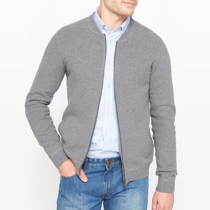 Image Sweter na suwak z kołnierzem teddy 100 % bawełny R essentiel