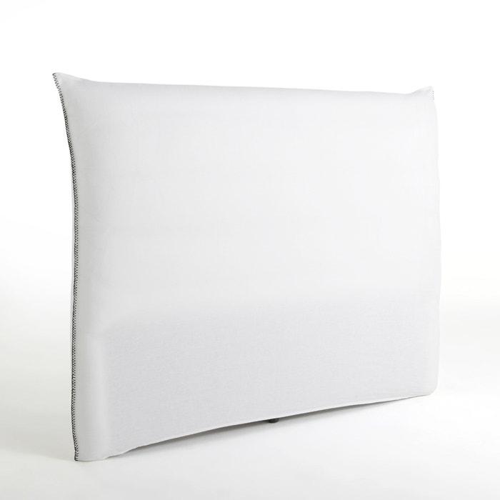 housse de t te de lit lin lav point de cheval mereson am. Black Bedroom Furniture Sets. Home Design Ideas