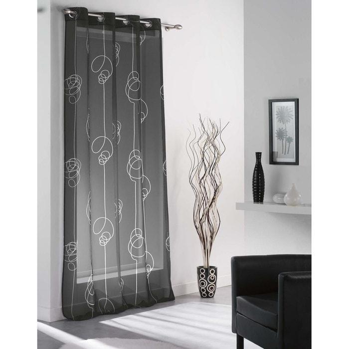 panneau en voilage imprim looping home maison la redoute. Black Bedroom Furniture Sets. Home Design Ideas