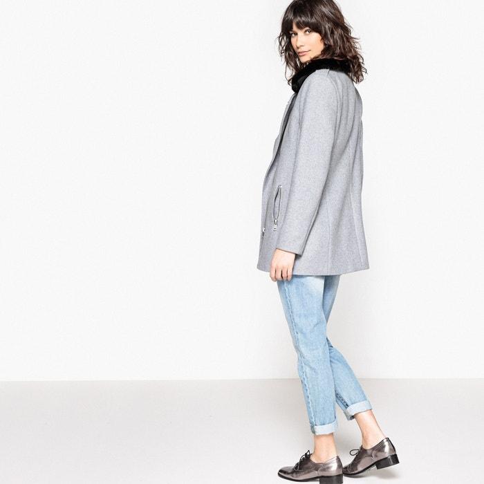motero La Redoute Collections lana mezcla de de estilo Abrigo vpIzZqwp