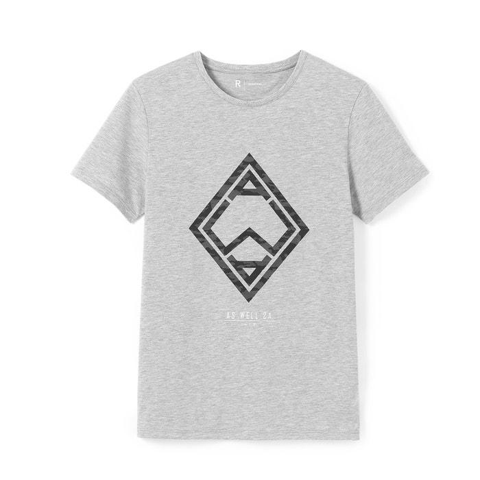 afbeelding T-shirt met ronde hals en geometrische print La Redoute Collections