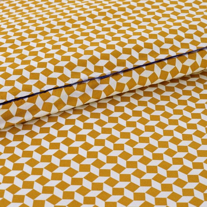 Image Copripiumone in percalle di cotone, Cravate jaune La Redoute Interieurs