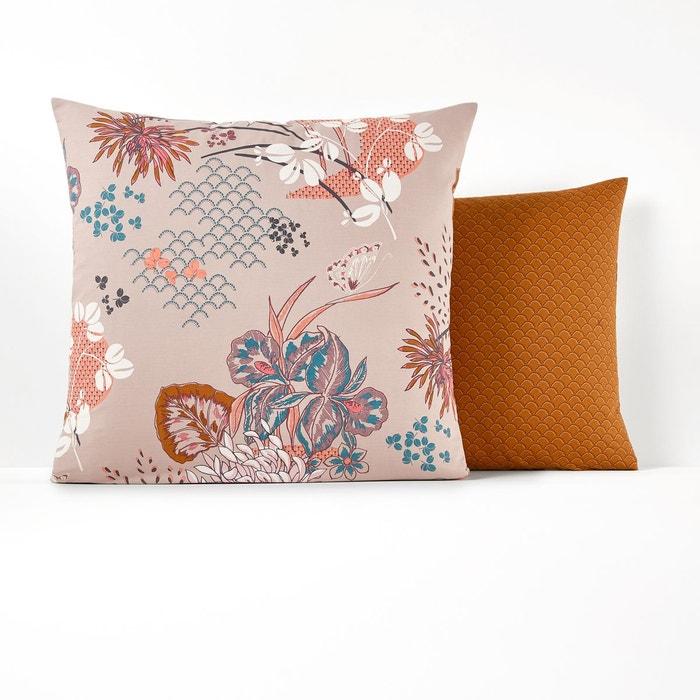 taie d oreiller percale de coton chinese flower imprim japonisant la redoute interieurs la. Black Bedroom Furniture Sets. Home Design Ideas