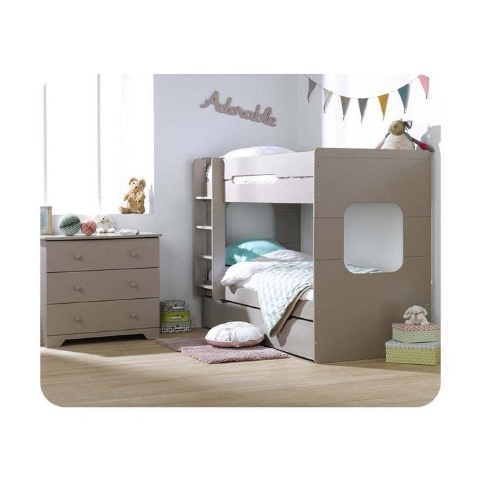 pack lit superpos enfant spark 90x200 avec 2 matelas ma. Black Bedroom Furniture Sets. Home Design Ideas