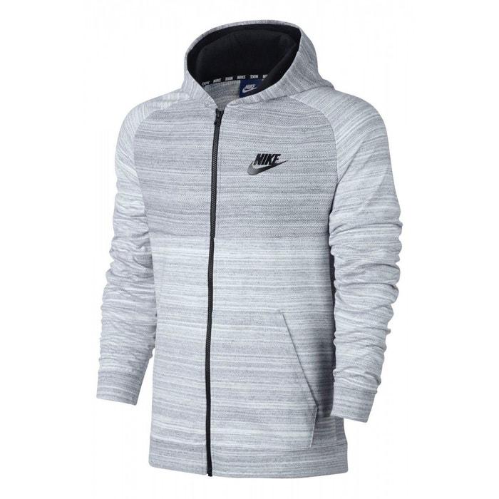 Sweat à capuche nike sportswear advance 15 full zip - 883025-100 gris Nike    La Redoute 5475139e4a7a