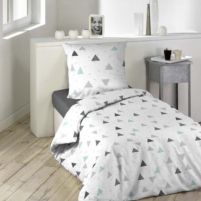 parure housse de couette microfibre imprime collection madison blanc douceur d 39 int rieur la. Black Bedroom Furniture Sets. Home Design Ideas
