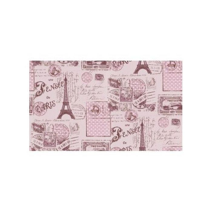 papier peint carte postale de paris rose home maison la redoute. Black Bedroom Furniture Sets. Home Design Ideas