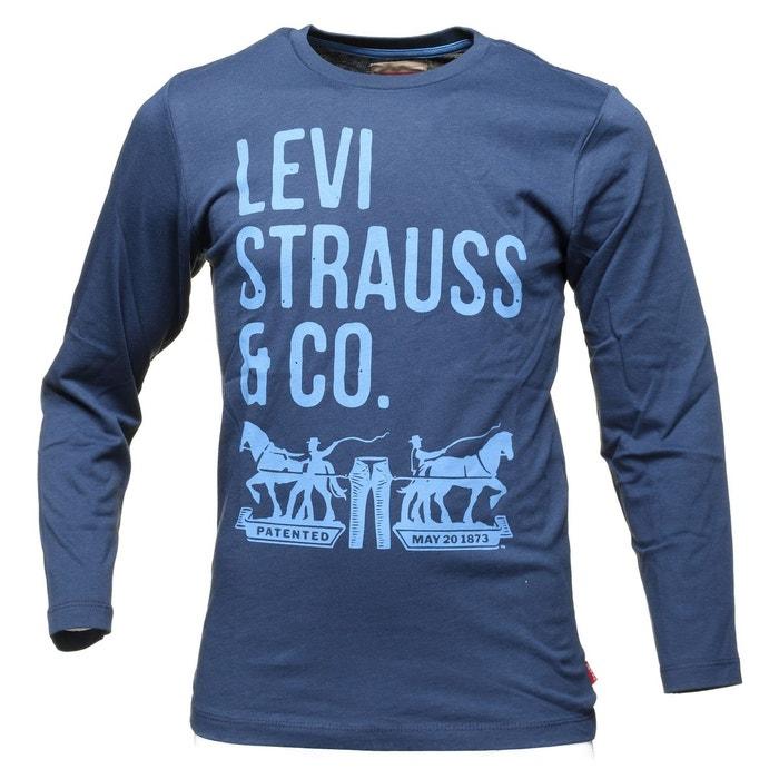 t shirt gar on levis n91007h 04 marine bleu levi 39 s la. Black Bedroom Furniture Sets. Home Design Ideas