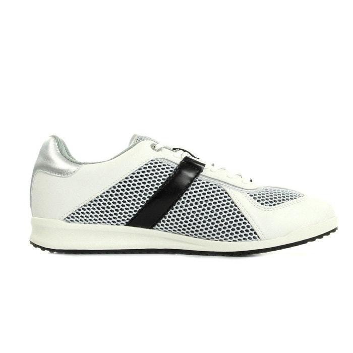 Sneaker uomo disb2 coated/mesh blanc-argent-noir Versace