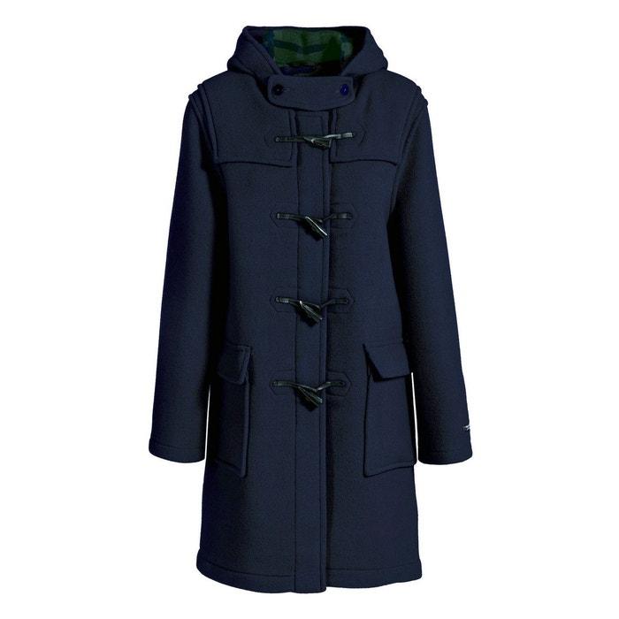 Duffle coat court en laine impermeable marine Dalmard Marine