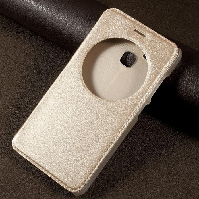 Housse Asus Zenfone Zoom S Ze553kl Doree Portefeuille AMAHOUSSE Image 0