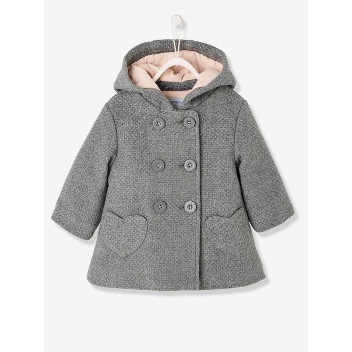 manteau b b fille drap de laine vertbaudet en solde la. Black Bedroom Furniture Sets. Home Design Ideas