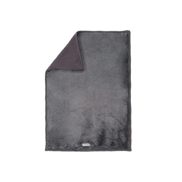 couverture tricoloudoux gris fonc 75x100cm gris noukie 39 s. Black Bedroom Furniture Sets. Home Design Ideas
