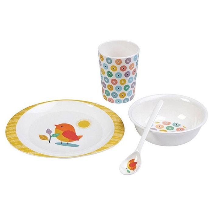 Coffret vaisselle oiseau multicolore mini labo la redoute - La redoute vaisselle ...