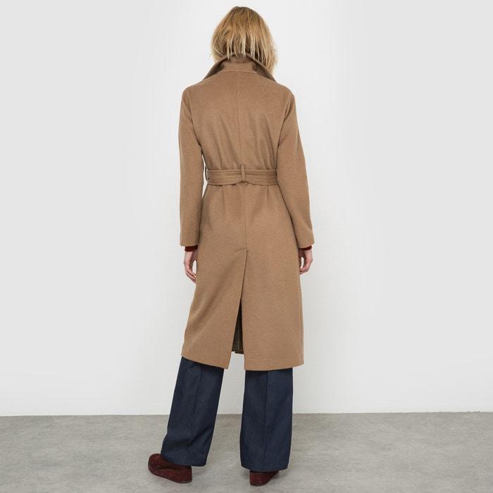 Abrigo largo de paño de lana camel La Redoute Collections  9b977deb8cfe
