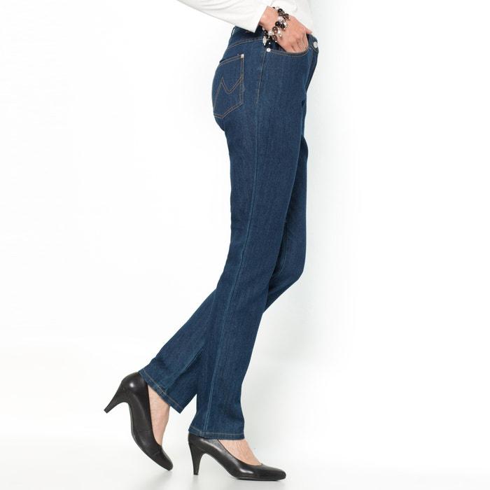 Image Stretch Denim Straight Jeans ANNE WEYBURN