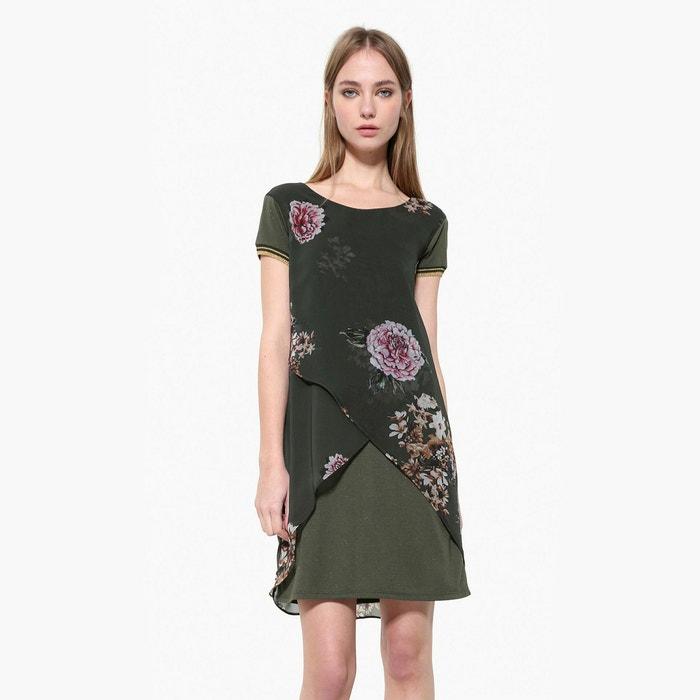 Mesh Style Floral Print Dress  DESIGUAL image 0