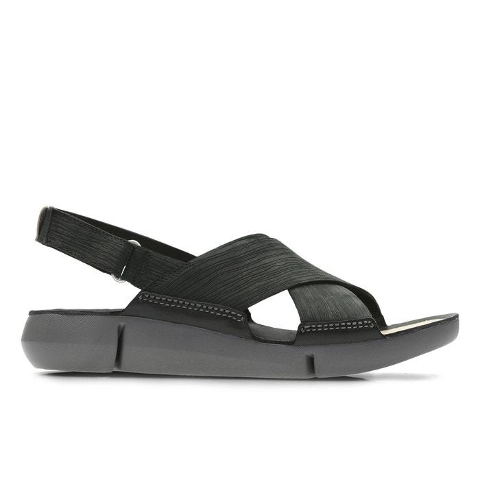 1e3da3a0425c94 Tri chloe nubuck leather sandals , black, Clarks | La Redoute