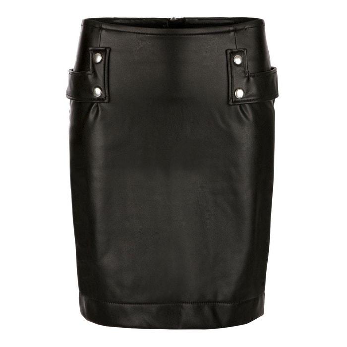 b1f814220554 Jupe Hiver Femme Taille Haute Effet Cuir Mandy BLEU D AZUR image 0
