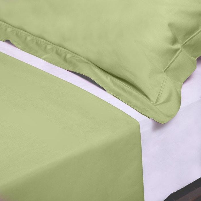 drap plat uni percale satin 270x310 home cassiopee la redoute. Black Bedroom Furniture Sets. Home Design Ideas