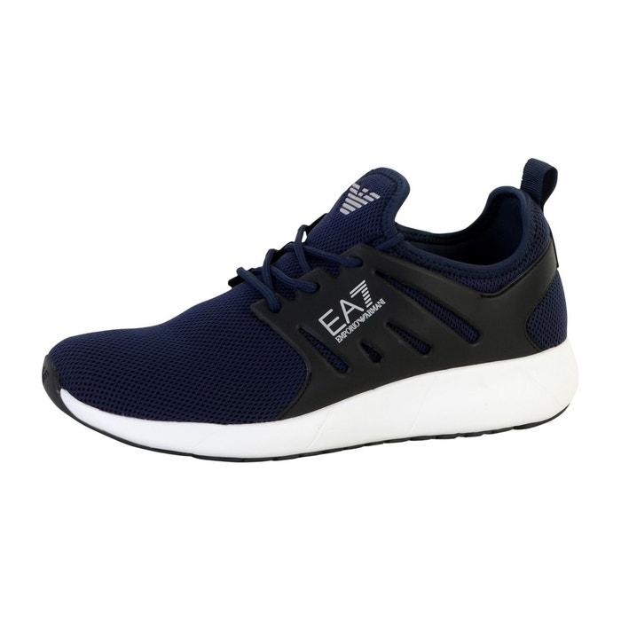 Emporio Armani EA7 Basket  new mineral Bleu - Livraison Gratuite avec - Chaussures Baskets basses Homme