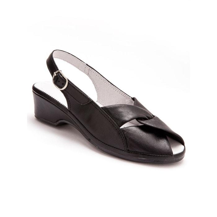 Sandales en cuir, au confort maxi Pediconfort