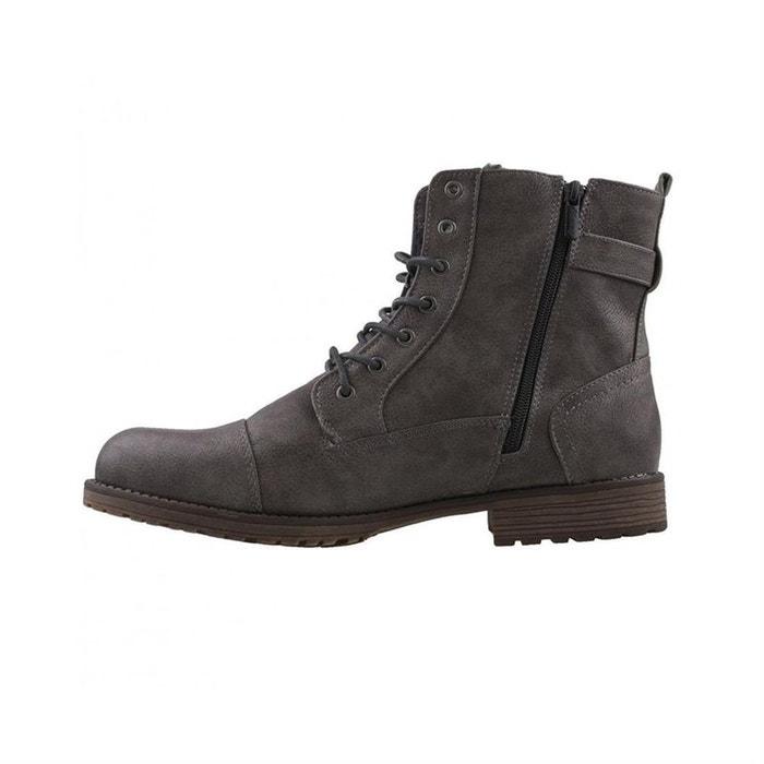 Bottines  /  boots fourré  gris Mustang  La Redoute