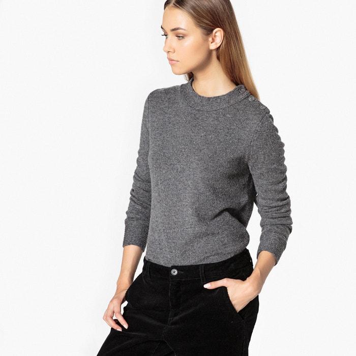 Pull laine, détails sur épaules  La Redoute Collections image 0