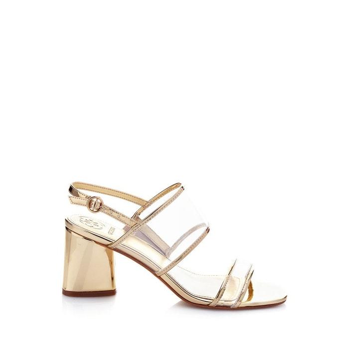 Sandales sedonne effet métallisé or Guess