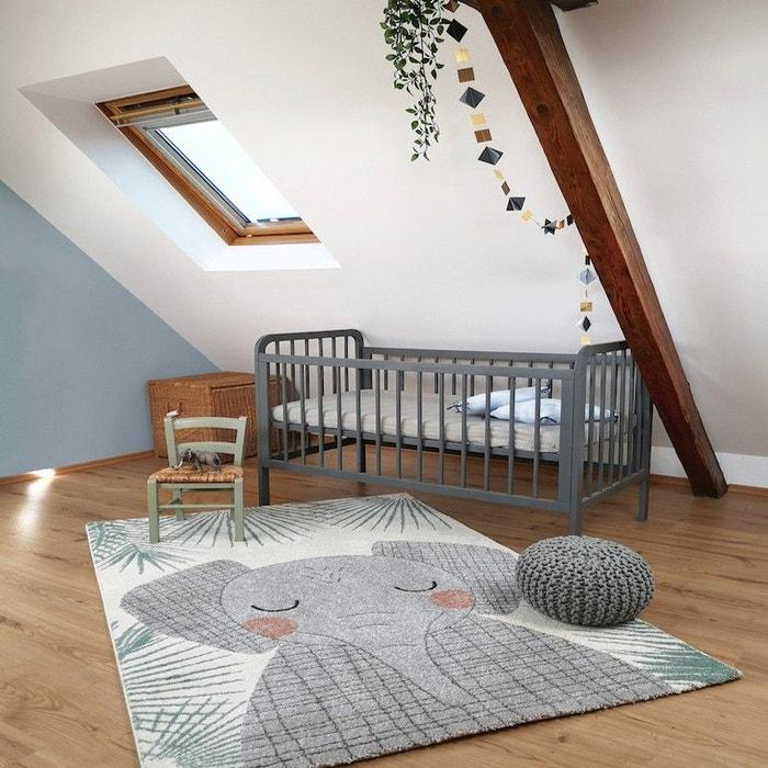 JUNKO l\'éléphant gris rectangle pour Chambre bébé par Nattiot