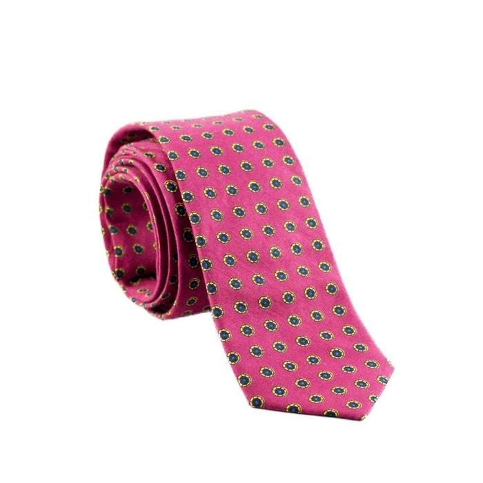 Cravate coton motifs ronds colorés fond rose rose Yikes Ties | La Redoute Gros Prix Pas Cher Gros Rabais Nouvelle Vente En Ligne ENGDKK